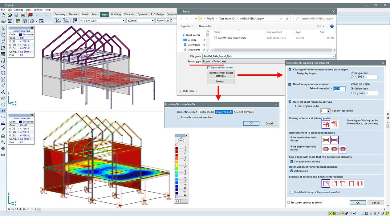 Export of applied reinforcement to TEKLA Structures (TI module)