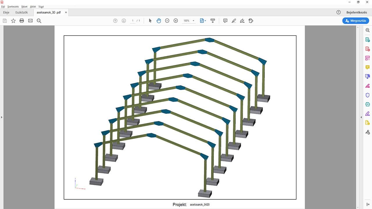 3D pdf exportálása