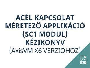 acél kapcsolat méretező applikaició AxisVM X6