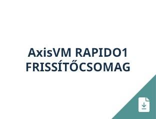 AxisVM Rapido1 frissítőcsomag