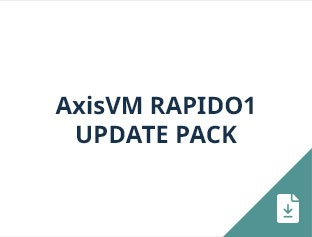 AxisVM Rapido1 update pack