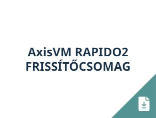 AxisVM Rapido2 frissítőcsomag