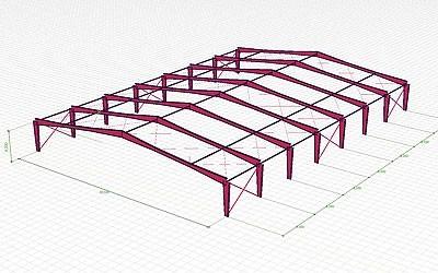AxisVM Viewer acélszerkezet modell
