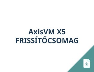 AxisVM X5 frissítőcsomag