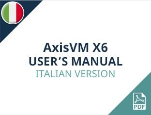 AxisVM X6 User Manual Italian Version