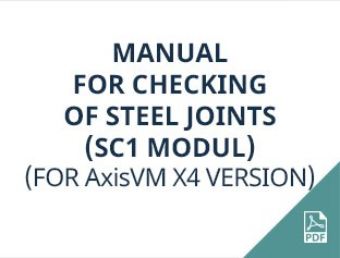 AxisVM X4 (SC1 modul) manual for checking of steel joints