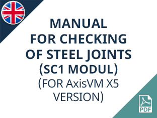 AxisVM X5 (SC1 modul) manual for checking of steel joints