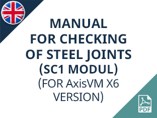 AxisVM X6 (SC1 modul) manual for checking of steel joints