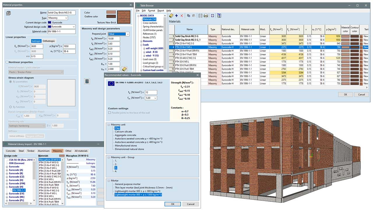 MD1 - calculation of masonry strength parameters