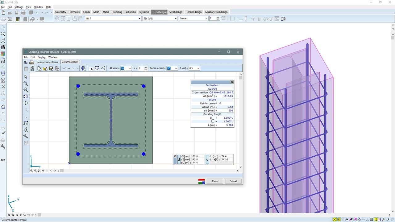 RC2 - composite columns