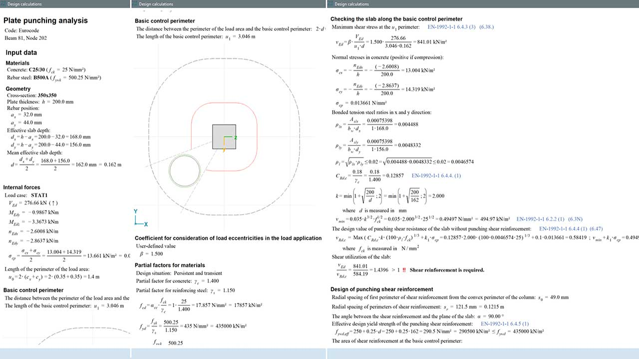 RC3 - detailed design calculations