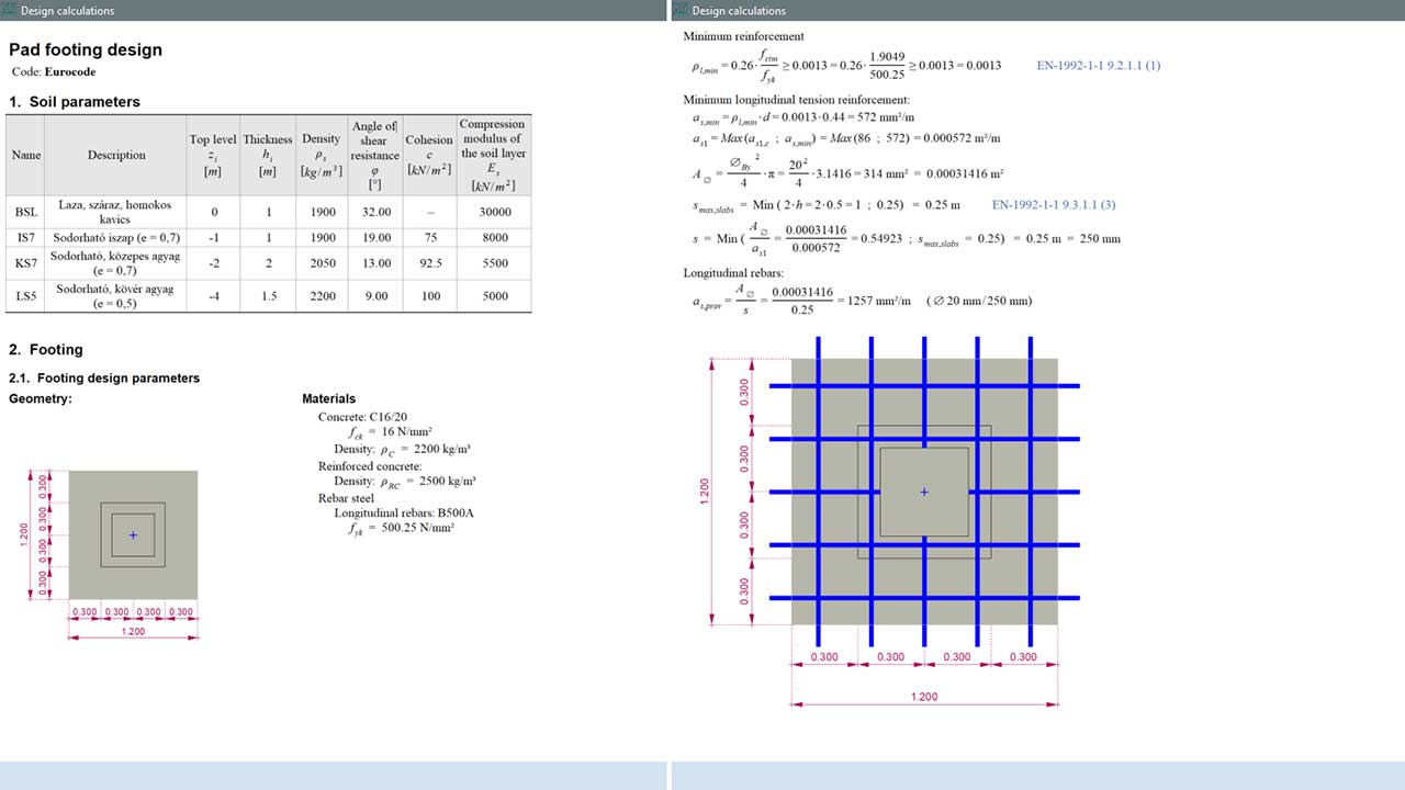 RC4 - detailed design calculations