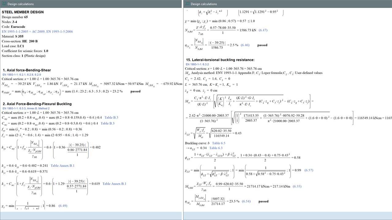 SD1 - design calculations