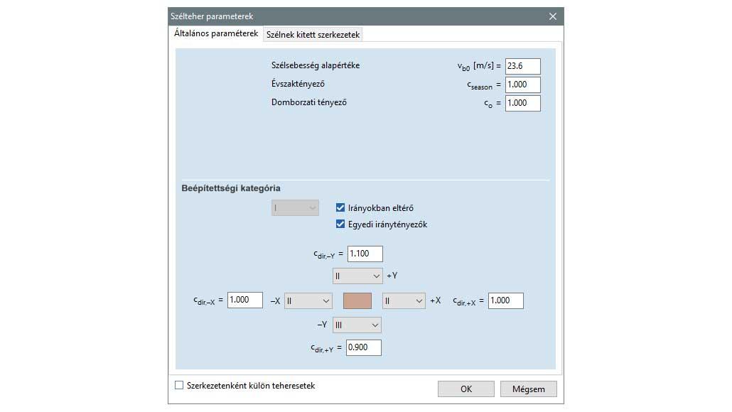 SWG - szélteher paraméterek