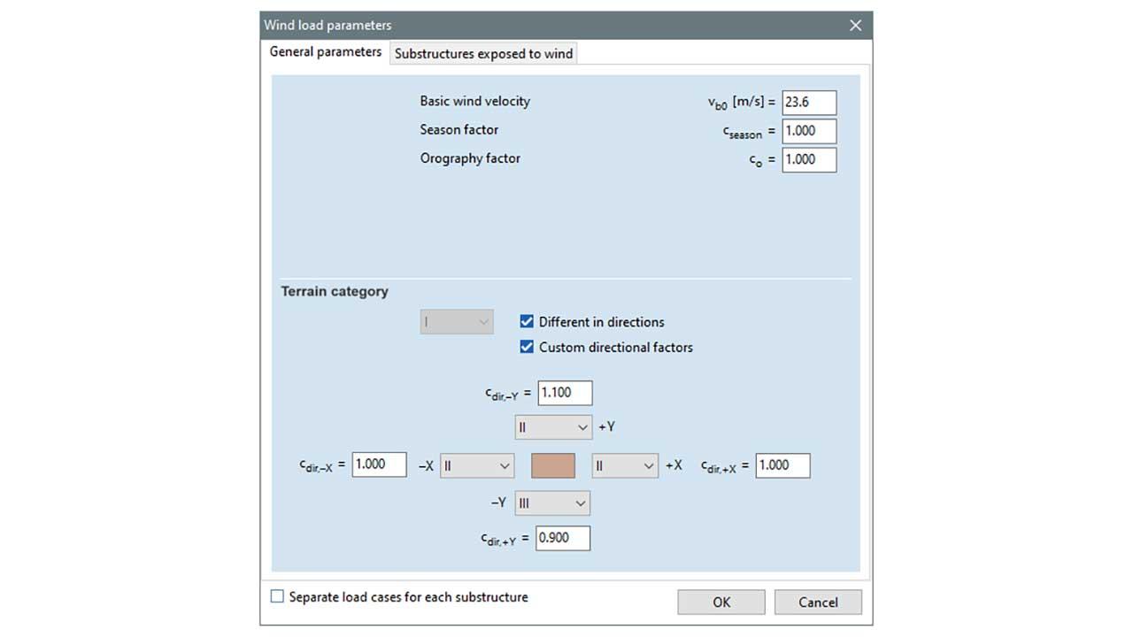 SWG - wind load parameters