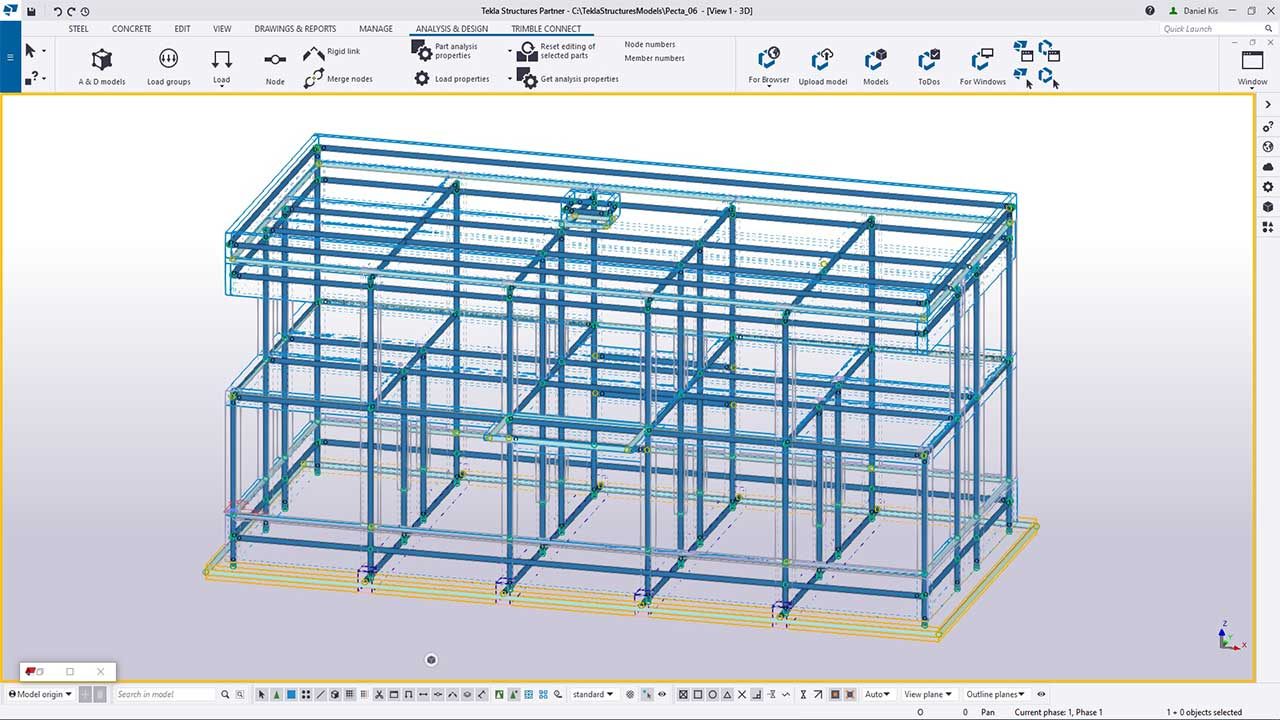 TI - create an analysis model in tekla structures