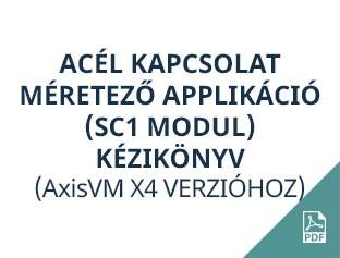 acél kapcsolat méretező applikáció AxisVM X4
