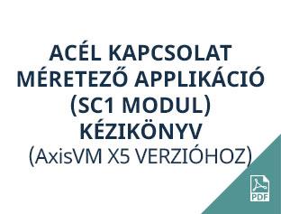 acél kapcsolat méretező applikáció AxisVM X5