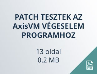 patch tesztek AxisVM végeselem programhoz