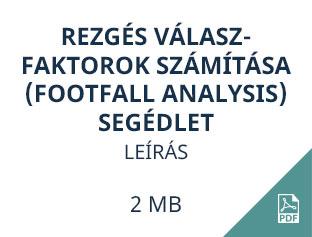 rezgés válaszfaktorok számítása footfall analysis segédlet
