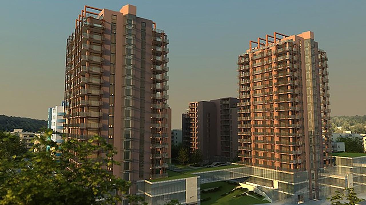 Benta Towers lakóépület komplexum - vasbeton szerkezet