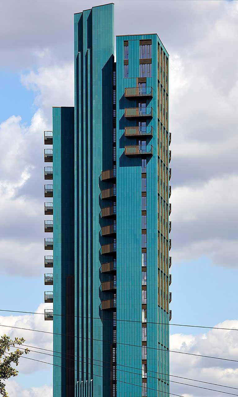Mapleton Crescent lakótorony - vasbeton szerkezet