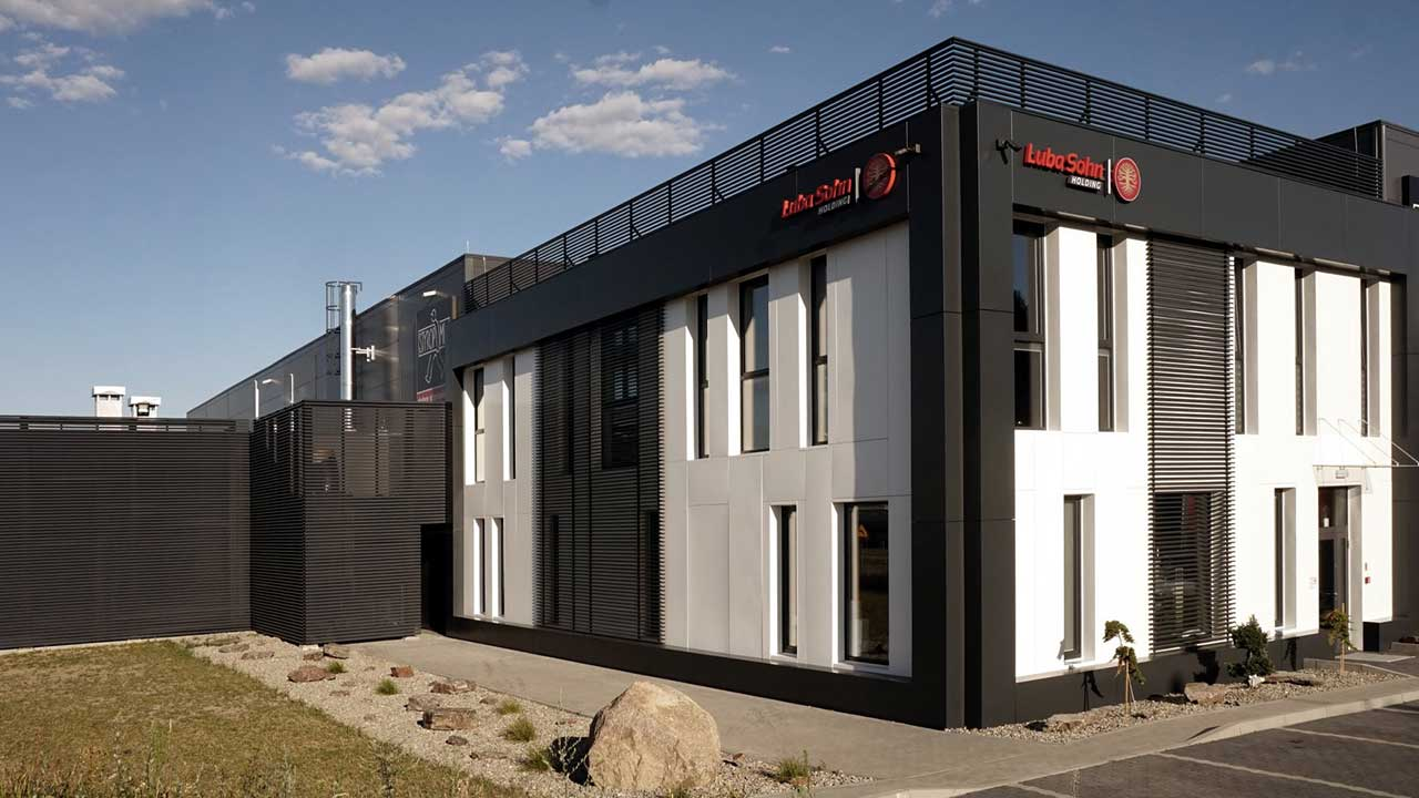 Gyártó- és raktárcsarnok, Zielona Gora - acélszerkezet