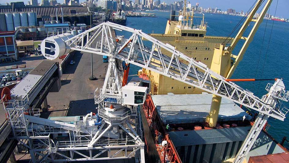 Ship unloader, South-Africa - steel structure