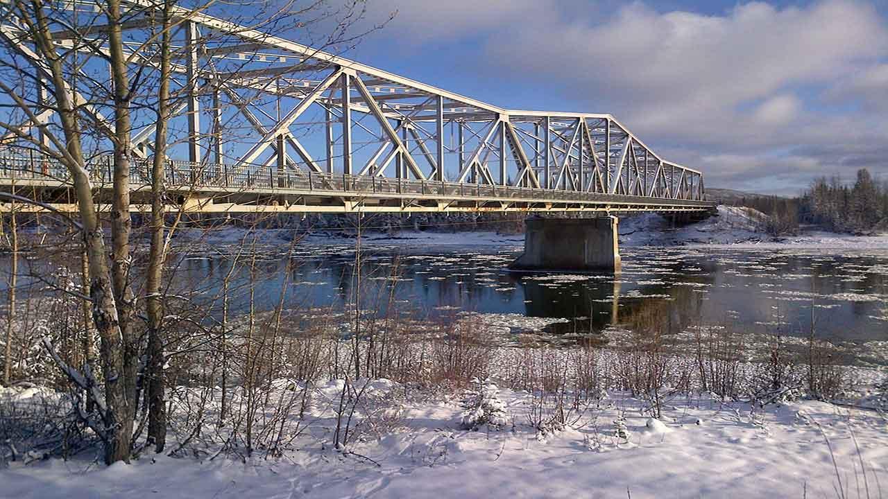 Upper Liard River Bridge Jacking