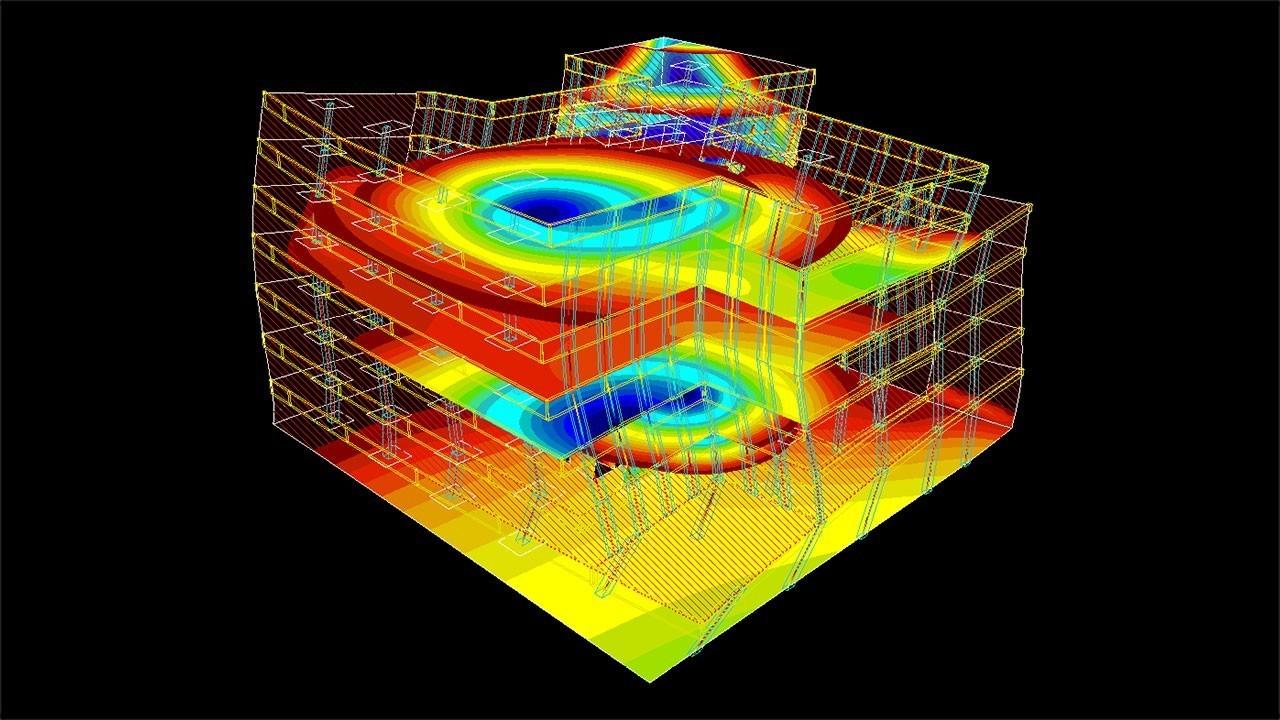 FEA Software Art - reinforced concrete structure