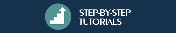 Step by step tutorials