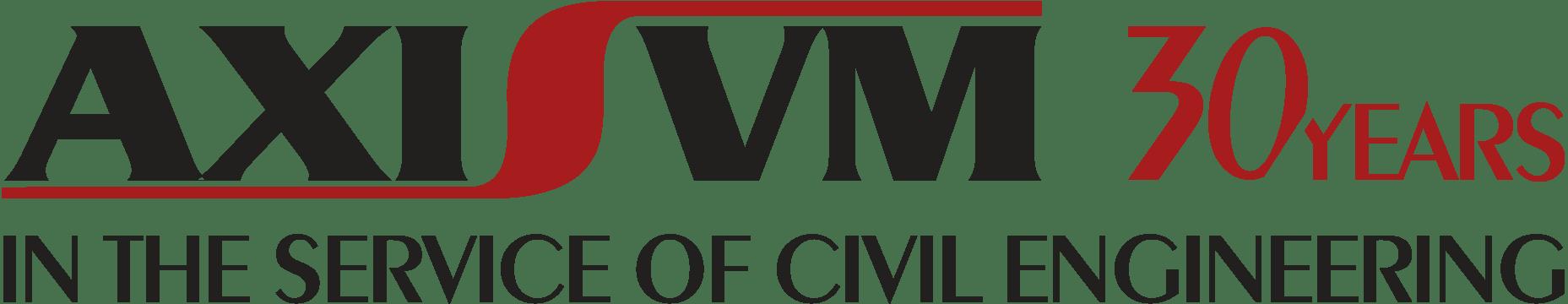 AxisVM 30 years anniversary logo