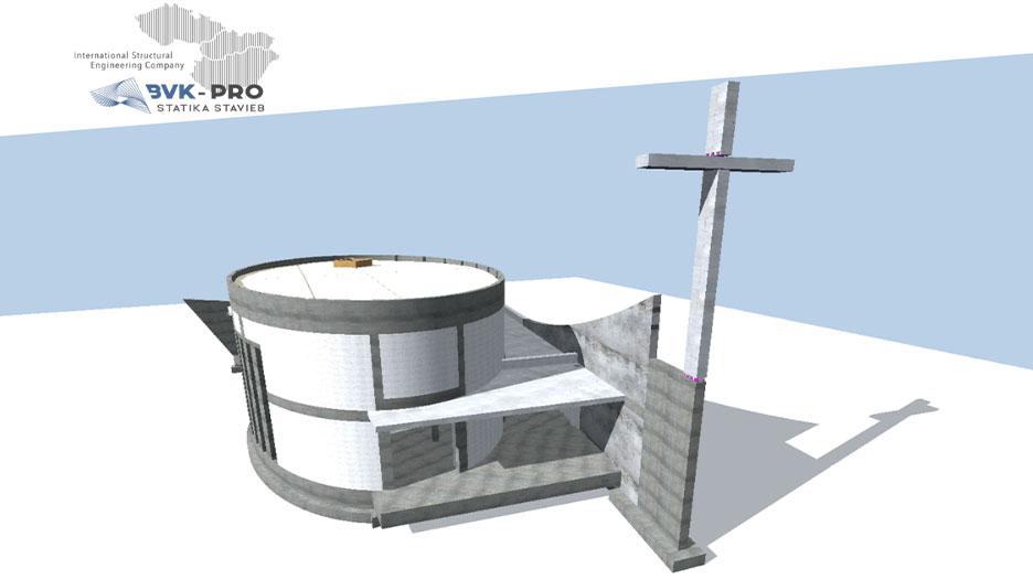 Római katolikus templom - vasbeton szerkezet