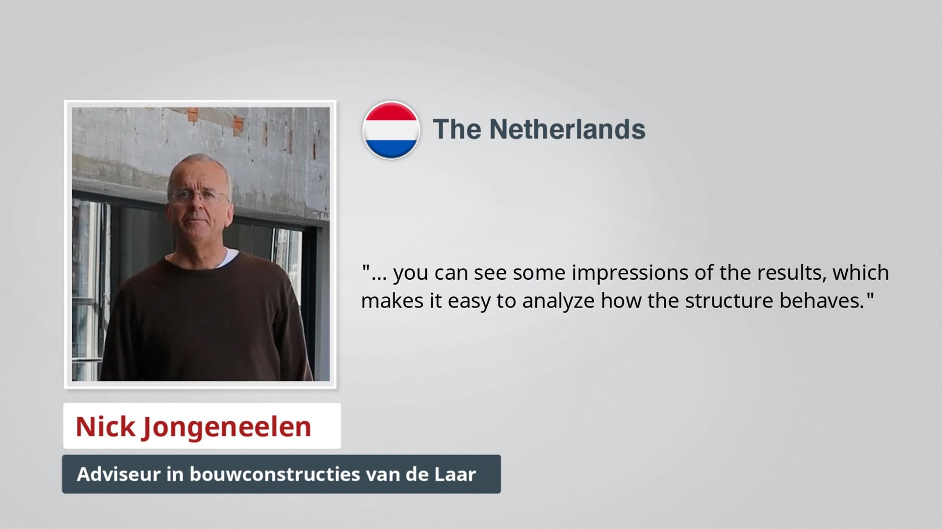 AxisVM Testimonial Adviseur in bouwconstructies van de Laar NL