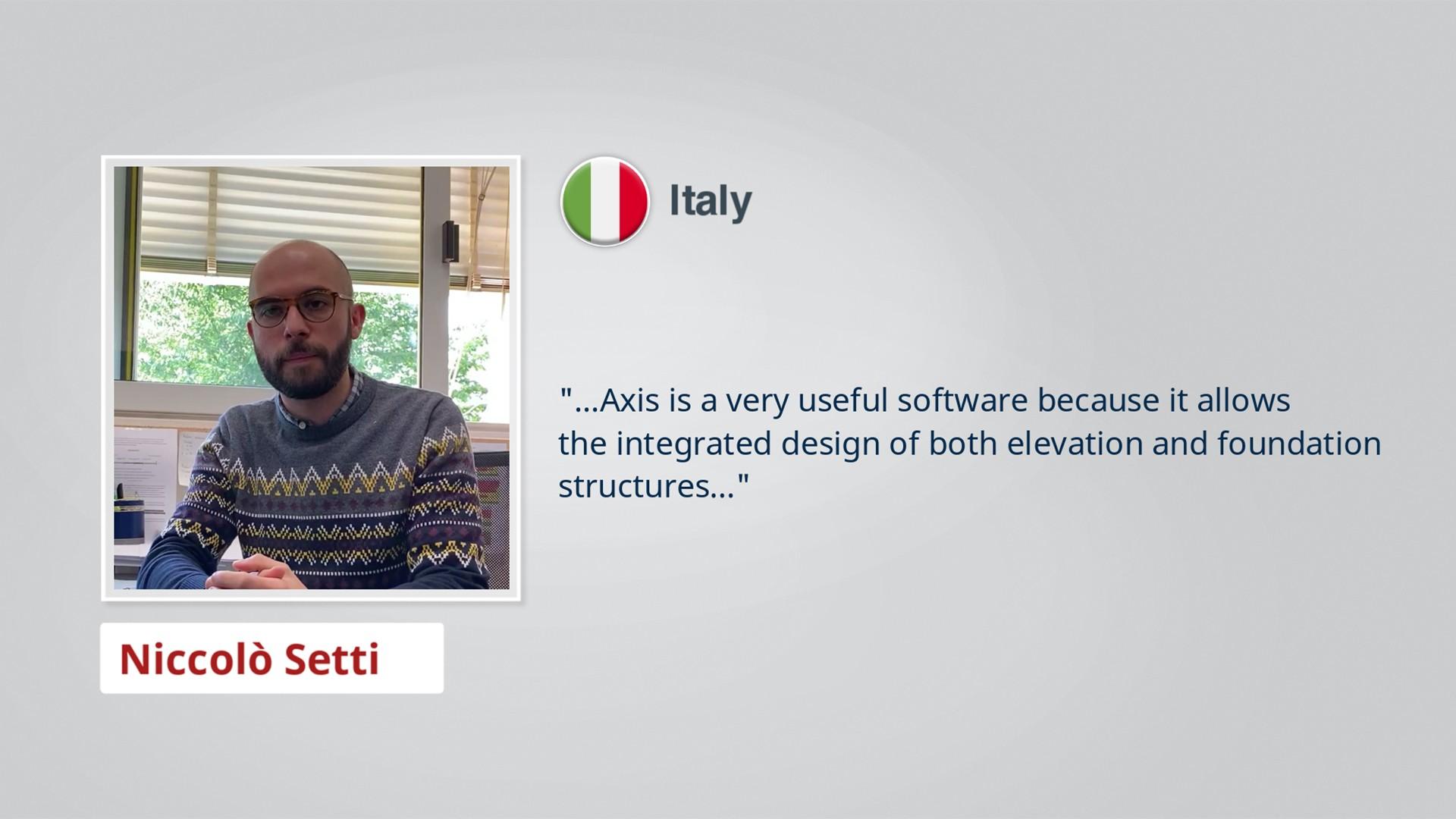 AxisVM Testimonial Niccolò Setti