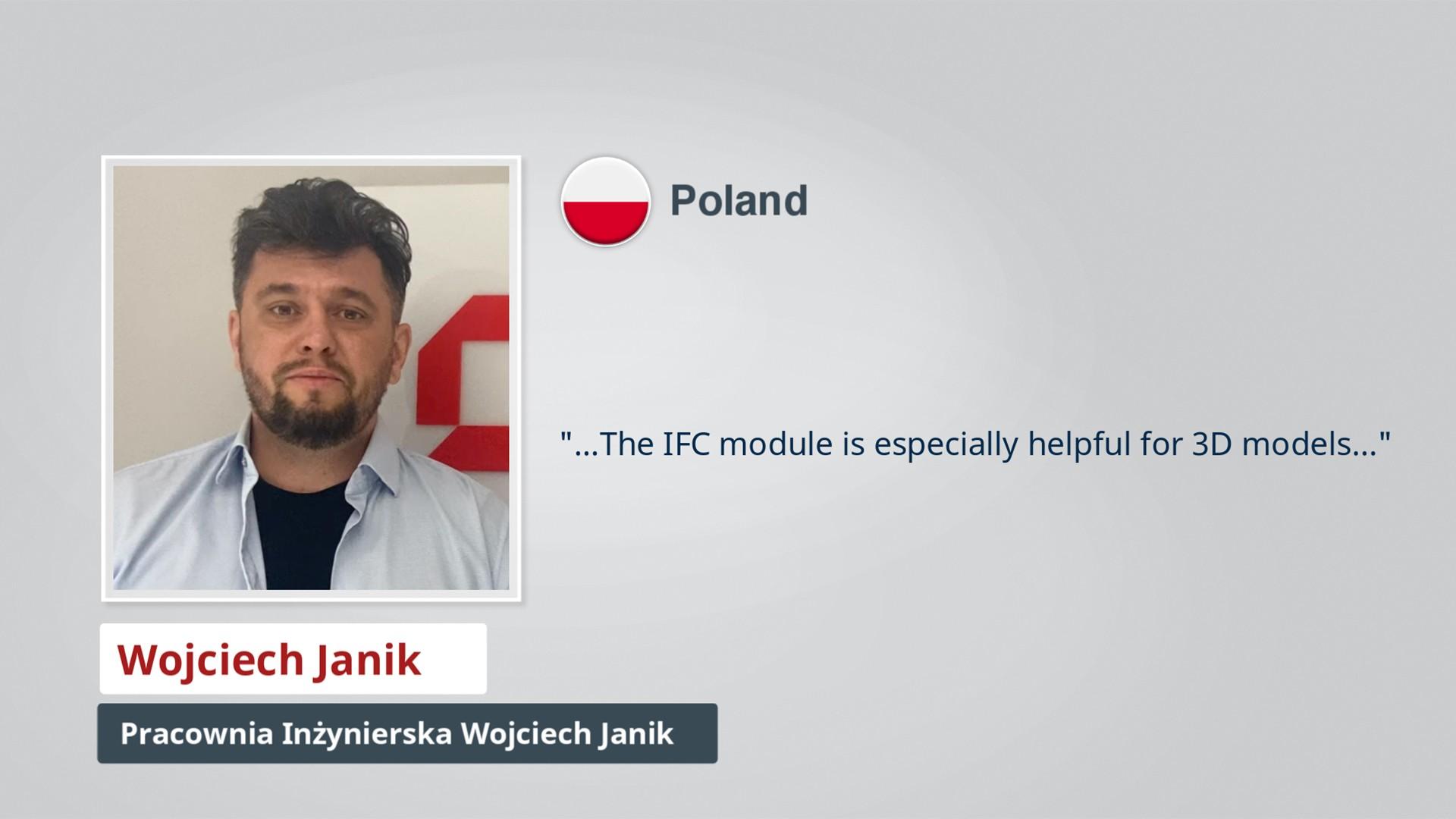 AxisVM Testimonial Wojciech Janik PL