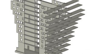 Belvédère lakótorony - vasbeton szerkezet