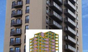 Benta Towers Residential Building - concrete structure