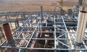Cement factory, Algeria - reinforced concrete steel structure