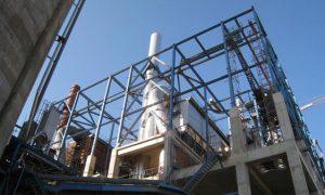Cementgyár, Algéria - vasbeton, -acélszerkezet