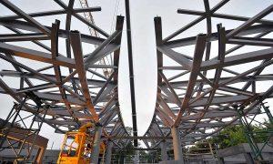Clinique des Grangettes - steel structure