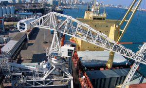 Kikötői daru, Dél-Afrika - acélszerkezet