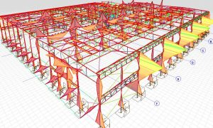 Production storage hall, Zielona Gora - steel structure