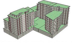 Pünkösdfürdő utcai komplexum - lakóépület
