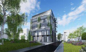 Residential building, Zielona Gora - reinforced concrete structure