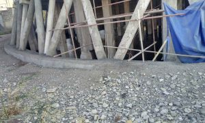 Structural reinforcement of an RC cooling tower - reinforced concrete structure