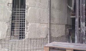 Structural reinforcement of a concrete silo - reinforced concrete structure