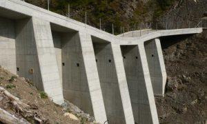 Trachtbach dam - reinforced concrete structure