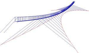 Trift függőhíd - acélszerkezet