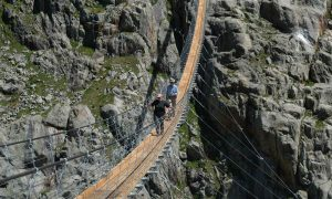 Trift Suspension Bridge - steel structure